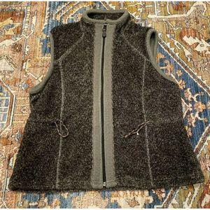Woolrich Onyx Heather Gray Fleece Vest Full Zip M